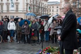 Úvodní projev pronesl rektor Masarykovy univerzity Mikuláš Bek. Autor: Petr Vozák