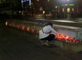 Zapalování svíček na Moravském náměstí. Autor: Kateřina Šafářová
